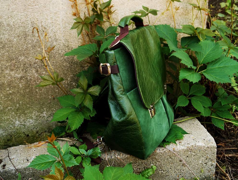 af28416f0e91b LILITH CHIMERA plecak torba zielona skóra
