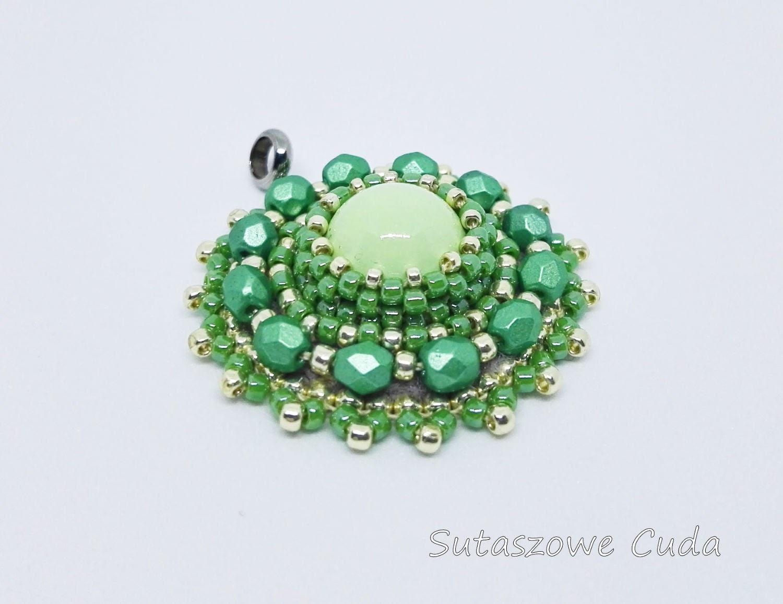 cb83f2781d552c Zielono - złoty komplet z koralików TOHO | Sklep internetowy ...