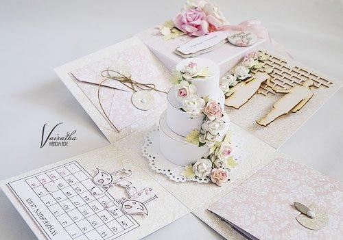 Kartka z motywem tortu weselnego