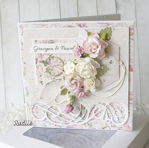 Kartka z życzeniami z motywem kwiatowym