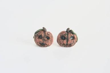 Kolczyki w kształcie dyni