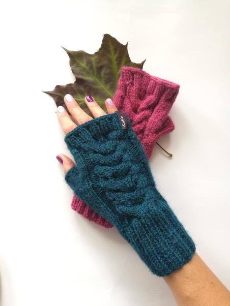 Ciepłe rękawiczki mitenki