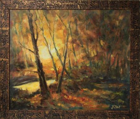 Obraz olejny Jesienny Las