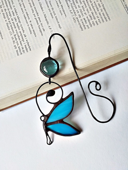 Zakładka do książki błękitny motyl