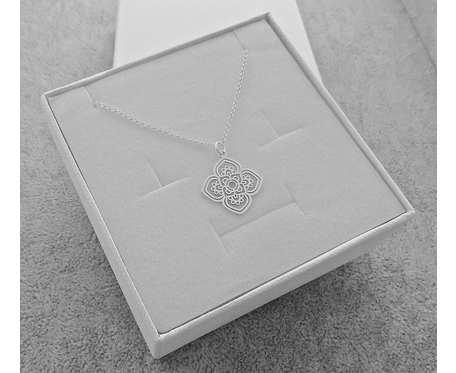 Naszyjnik Srebrny pr. 925 Kwiat