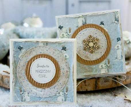 Jestem z najpiękniejszych PODARKÓW ŚWIĄTECZNYCH stworzony przez Mrufru. Mini kartka w filigranowym pudełeczku. Boże Narodzenie (m09)