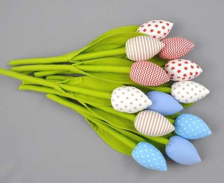 Tulipany bawełniane, szyte