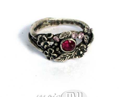 Kwiatowy III - pierścionek