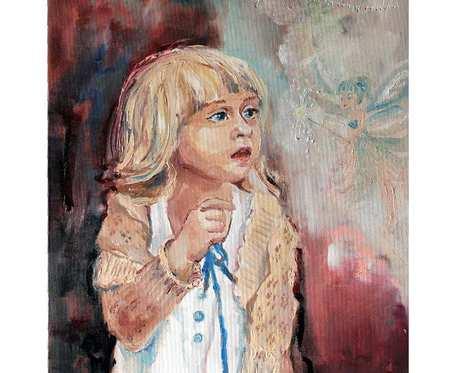 Dziecięcy świat - obraz, olej na płótnie
