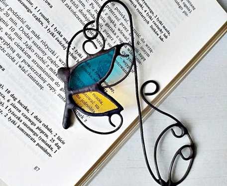 Zakładka do książki Motyl turkus słomka
