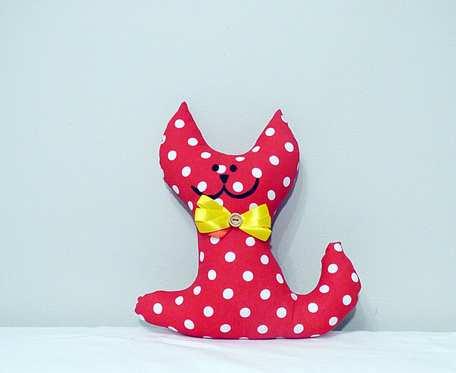 Przytulanka  czerwony kotek