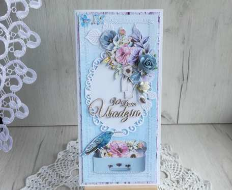 Kartka urodzinowa DL w pudełeczku