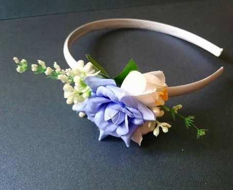 Opaska niebieska roza