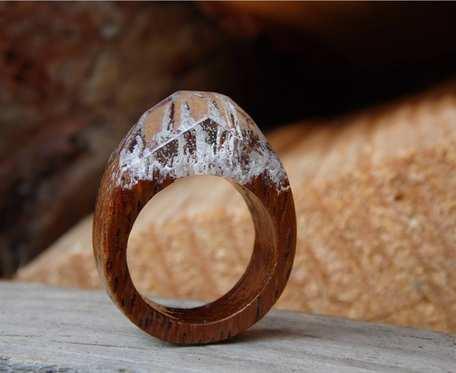Drewniany pierścionek #MountainTop