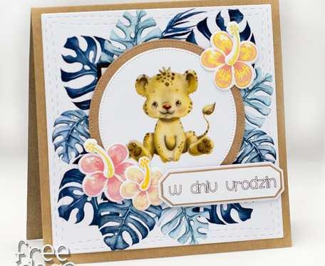 Kartka urodzinowa z gepardem KU1969