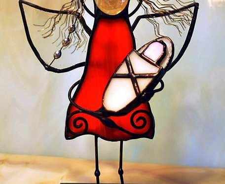 Aniołek mama z dzieckiem