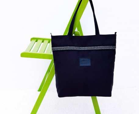Czarna torebka z tkaniny zamszowej Alma I black