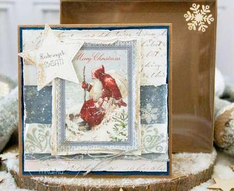 Jedna z najpiękniejszych i najbardziej wyjątkowych KARTEK BOŻONARODZENIOWYCH Mrufru, w pudełeczku (b13)