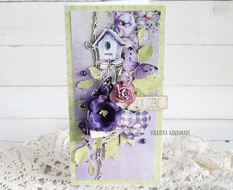 Kartka urodzinowa/imieninowa w pudełku, 545