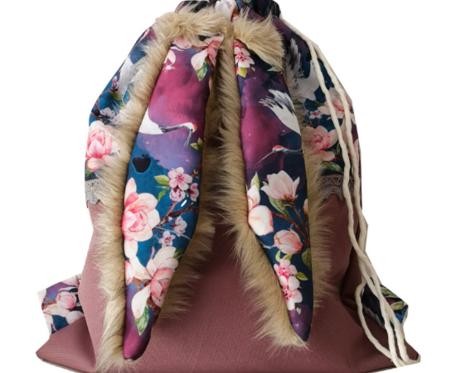 Plecak Worek z Uszami Królika - Żuraw i Magnolie