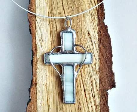 Wisior Krzyż Tiffany