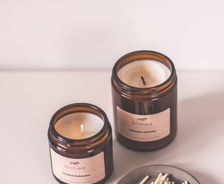 Łagodna lawenda - naturalna świeca sojowa