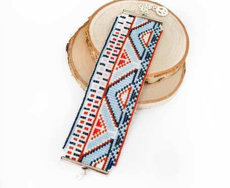 Aztec bransoletka w jasnych barwach