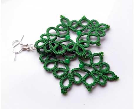 Misterne ażury - kolczyki zielone