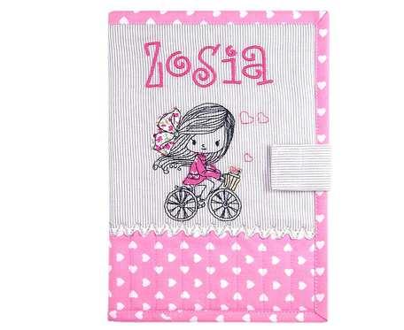 Okładka imienna na książeczkę zdrowia dziecka Zosia