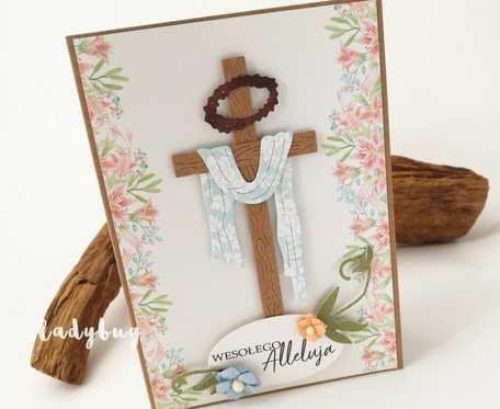 Krzyż - kartka wielkanocna