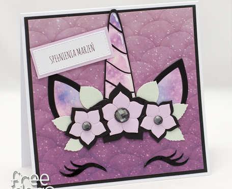 Magiczny jednorożec spełniający marzenia - kartka urodzinowa KU1966