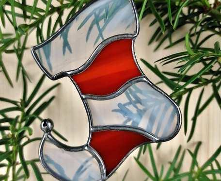 Szklana zawieszka elfi bucik (witraż) #3
