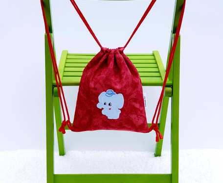 Plecak – Worek czerwony z niebieskim słoniem