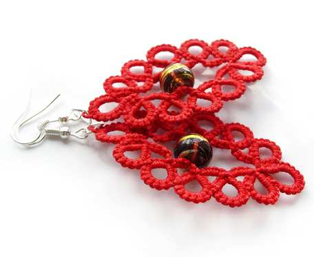 Czerwone frywolitki#czerwono-złoty