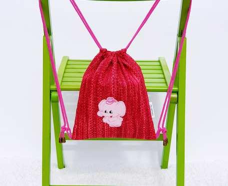 Plecak – Worek dla dzieci czerwony wzór i różowy słoń
