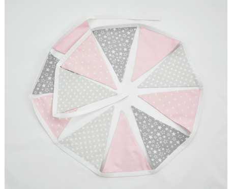 Girlanda trójkątów, proporczyki hand made
