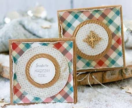 Jestem z najpiękniejszych PODARKÓW ŚWIĄTECZNYCH stworzony przez Mrufru. Mini kartka w filigranowym pudełeczku. Boże Narodzenie (m05)