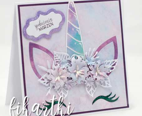 Magiczny jednorożec spełniający marzenia - kartka urodzinowa KU2007