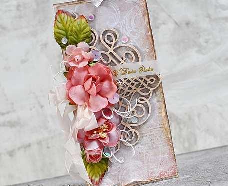 Ślubny bukiet z ażurem