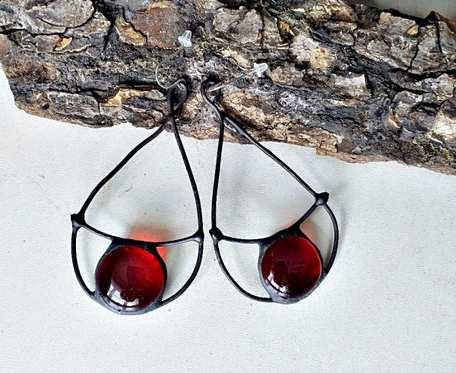 Kolczyki Czerwone krople Tiffany