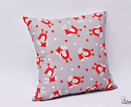 Poduszka świąteczna, poduszka na święta, świąteczna ozdoba, ozdobna poduszka renifery z wypełnieniem