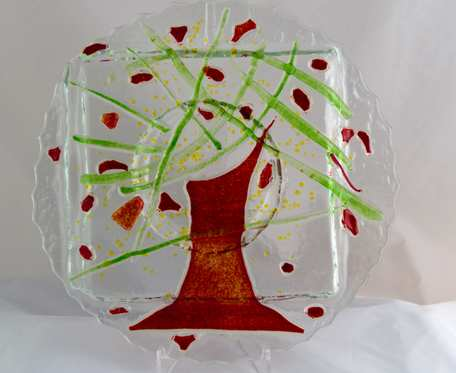 Świecznik czerwone drzewo