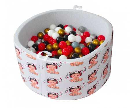 Suchy basen BabyBall z piłeczkami (300 szt) - grube dno 4 cm - Miętowy - prezent na Roczek