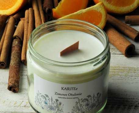 Naturalna, zapachowa świeca sojowa OTULENIE bardzo duża