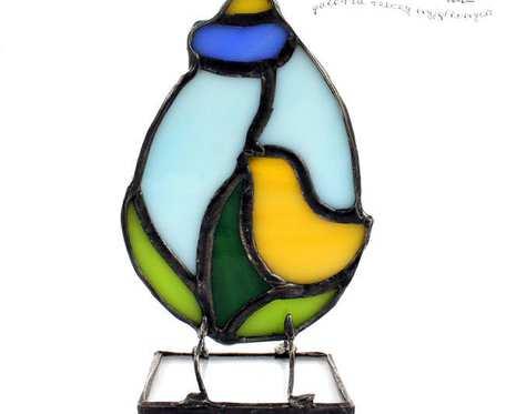 Jajo dekor 03 - dekoracja wielkanocna, witraż Tiffany