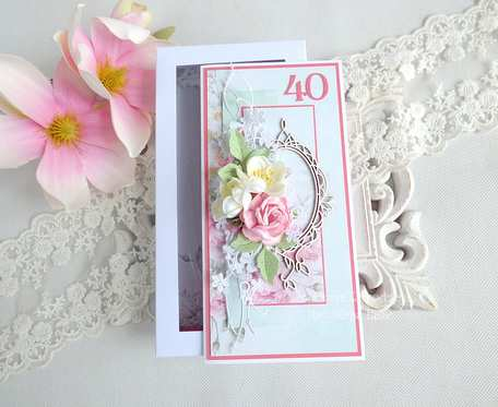 Kartka jubileuszowa w pudełku 45