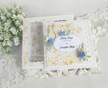 Kartka w pudełku na ślub i chrzest 05