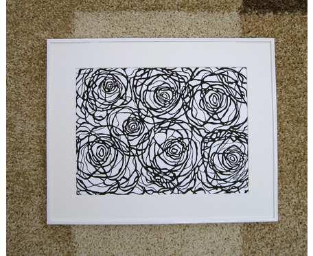 Grafika czarno - biała RÓŻE