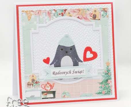 Pingwinek - kartka świąteczna  KBN1940