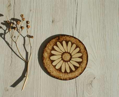 podkładka pod kubek - kwiat